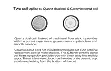 Load image into Gallery viewer, Yocan Cerum Coils (Quartz Dual Coil, Ceramic Donut) (5 pack)