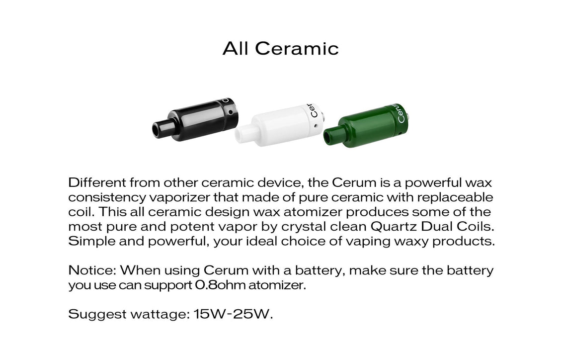 Yocan Cerum Ceramic Wax Atomizer