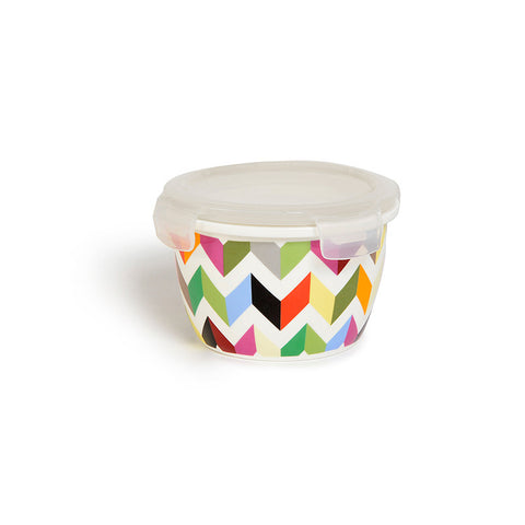 "Large Round Porcelain Storage Bowl ""Ziggy""