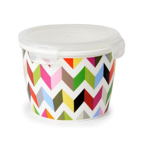 "Tall Porcelain Storage Bowl ""Ziggy""