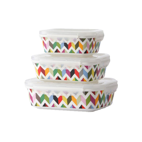 "Porcelain Storage Set Ziggy|Ensemble de Boîtes de Stockage en Porcelaine ""Ziggy"""