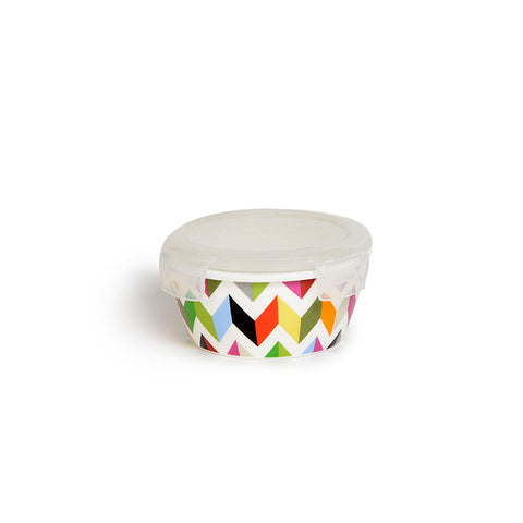 "Small Round Porcelain Storage Bowl ""Ziggy""