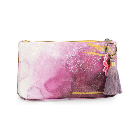 "Small Accessory Bag ""Plum Watercolor""