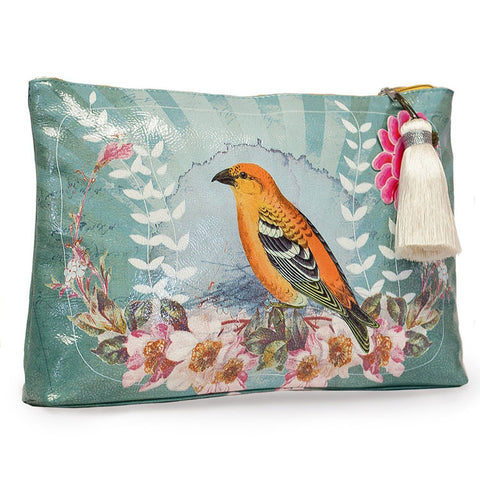 "Large Accessory Pouch ""Golden Bird""