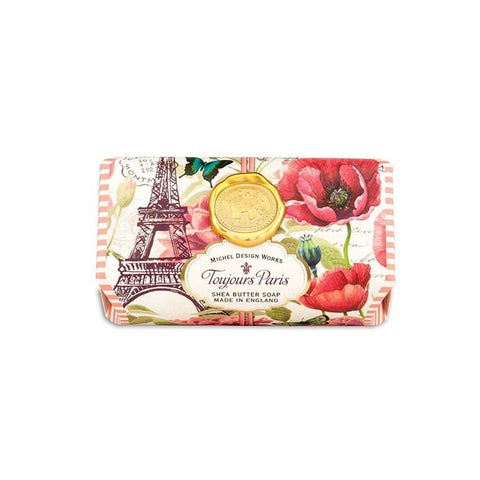 "Large Bath Soap Bar ""Toujours Paris""
