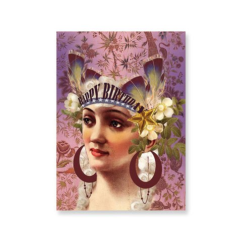 "Greeting Card Birthday ""Crown""