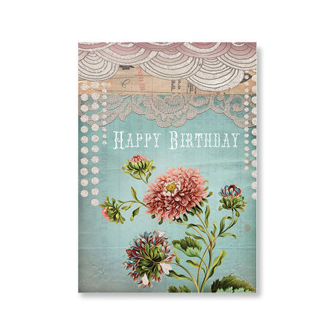"Greeting Card Birthday ""Lace""