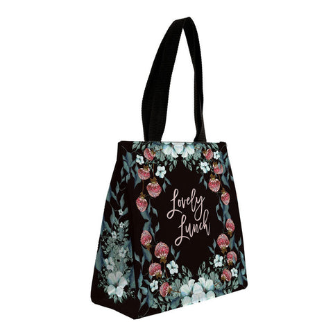 "Insulated Lunch Bag ""Black Thistle""