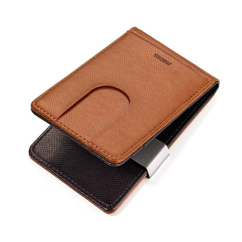 "Credit card case & Money clip ""Caramel""