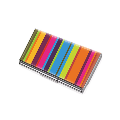 "Business Card Case ""Retro Stripes""