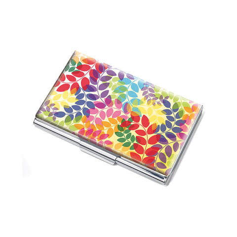 "Business Card Case ""Colorful Leaves""