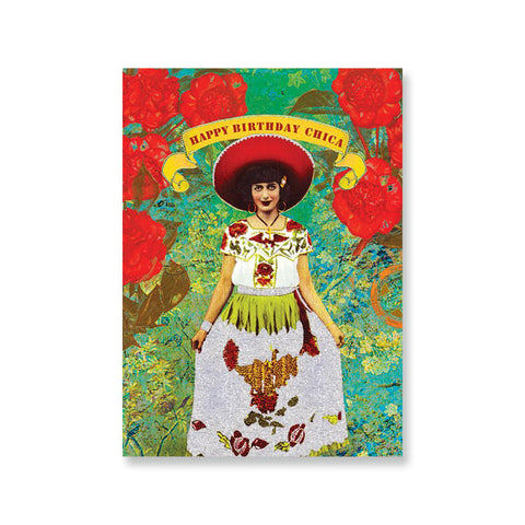 "Greeting Card ""Birthday Chica""