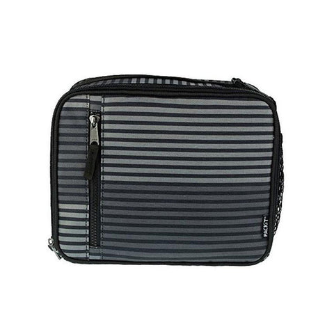 "Freezable Classic Lunch Box Gray Stripe|Sac Isotherme classique ""Gray Stripe"""