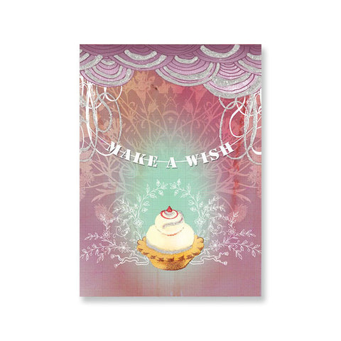 "Greeting Card ""Cupcake Wish""