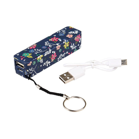 "Portable USB Charger""Ditsy Garden""