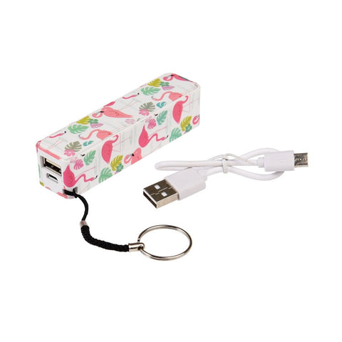 "Portable USB Charger""Flamingo Bay""
