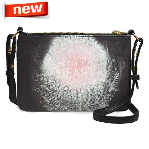 "Crossbody Bag ""From the heart""