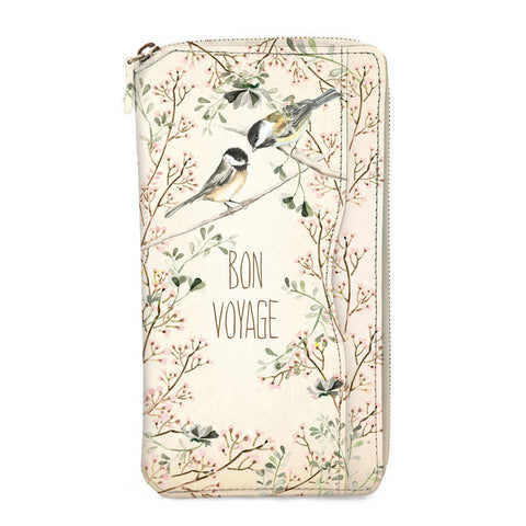 "Travel Wallet ""Garden Bird""