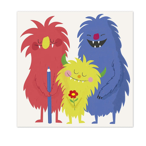 """Monsters Of The World"" Greetings Cards