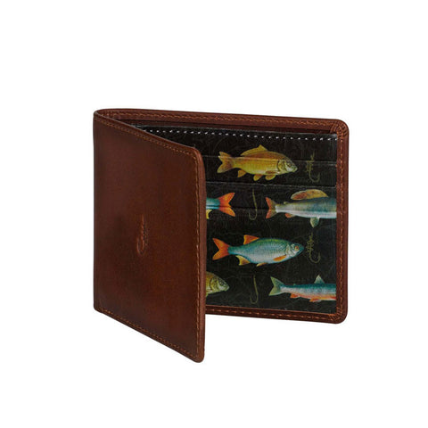 "Leather Wallet ""Hook Line & Sinker""
