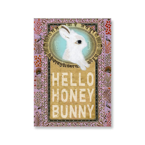 "Greeting Card ""Honey Bunny""