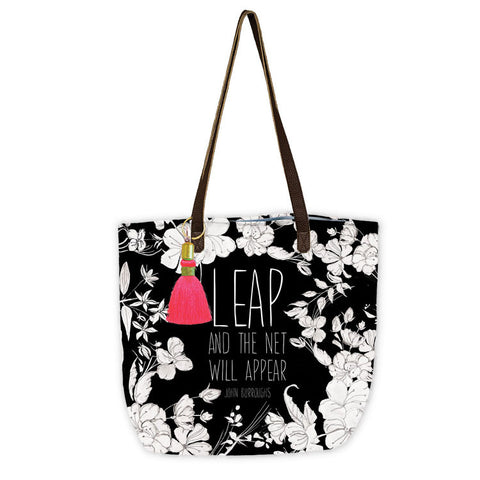 "Bucket Tote ""Leap""