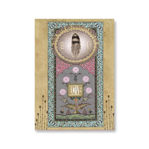 "Greeting Card ""Love Feather""