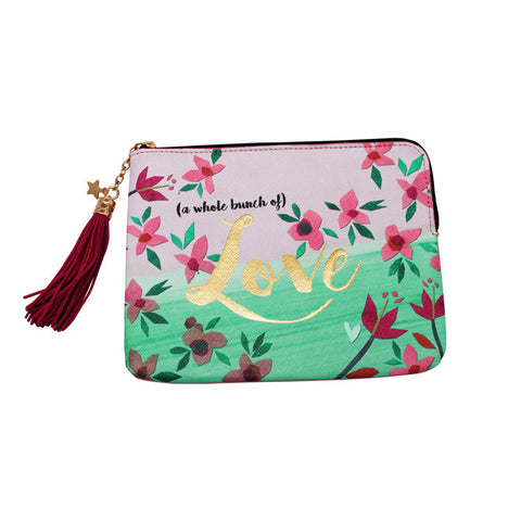 "Zip Pouch ""Love""