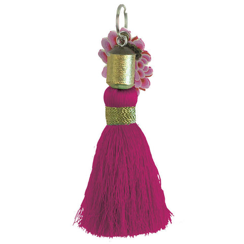 "Tassel Key Chain ""Lover's Rose""