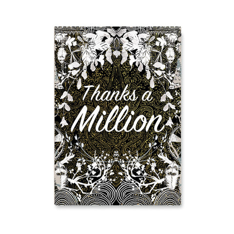 "Greeting Card ""Thanks a million""
