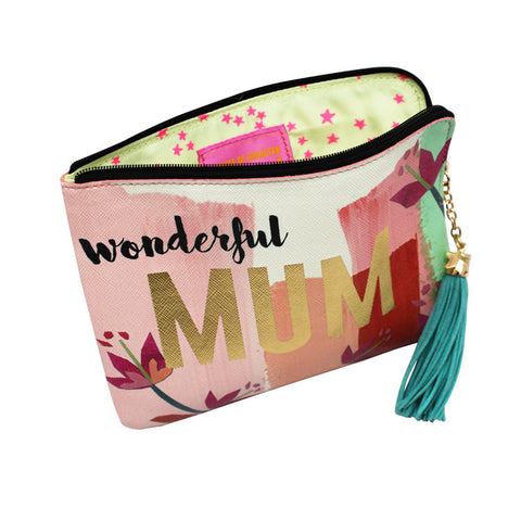 "Zip Pouch ""Wonderful Mum""
