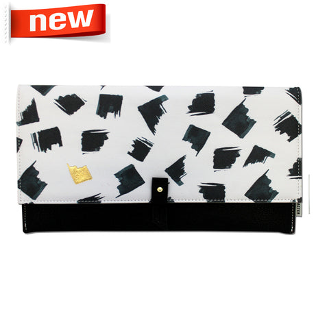 "Clutch Bag ""Paint Black""