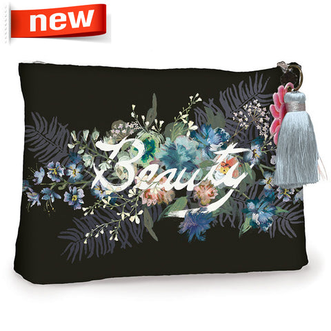 "Large Accessory Pouch ""Beauty Bouquet""