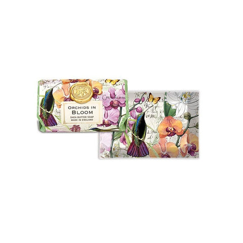 "Large Bath Soap Bar ""Orchids in Bloom""