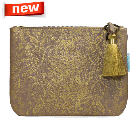 "Pocket Clutch ""Paisly Gold""