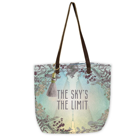 "Bucket Tote ""Sky's The Limit""