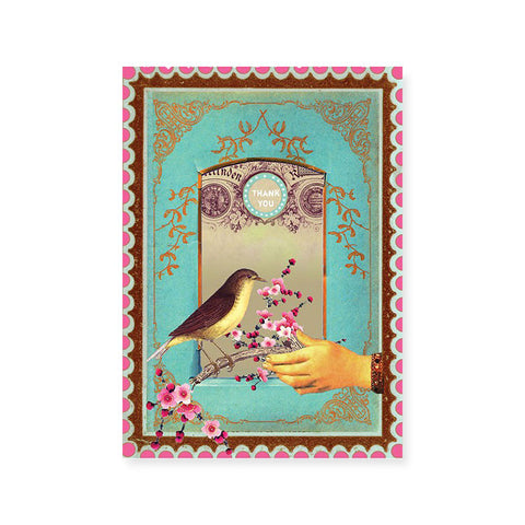 "Greeting Card ""Victorian Thank""
