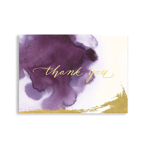 "Thank you Card ""Plum Watercolor""