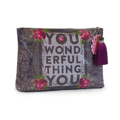 "Large Accessory Pouch You Wonderful Thing|Grande Pochette ""You Wonderful Thing"""
