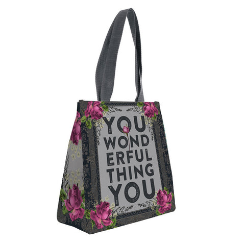 "Insulated Lunch Bag ""Wonderful You ""