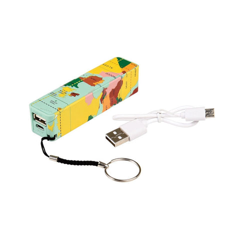 "Portable USB Charger ""World Map""