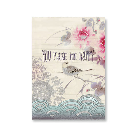 "Greeting Card ""You Make Me Happy""