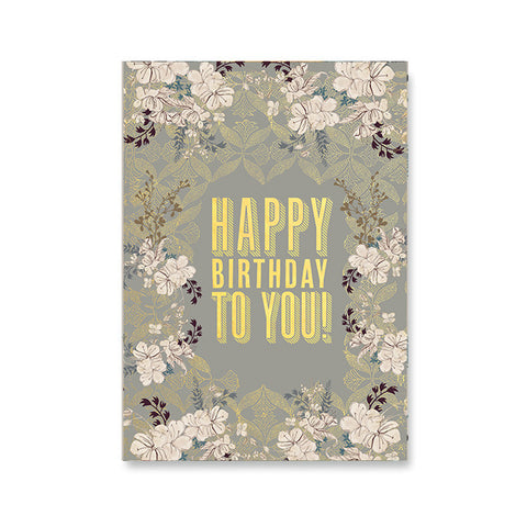 "Greeting Card ""Happy Birthday to You""