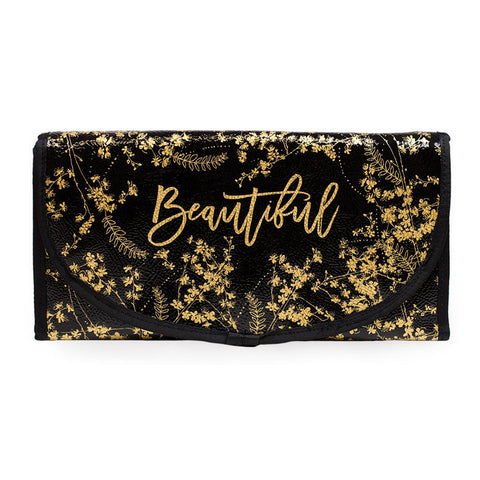 "Travel Organizer ""Black Gilded Flowers"" 