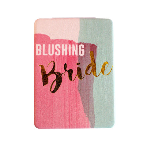 "Compact Mirror ""Blushing Bride""