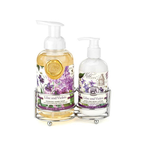"Handcare Caddy ""Lilac and Violets""