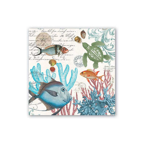 "Sea Life Cocktail Napkins|Serviettes de Cocktail ""Sea Life"""