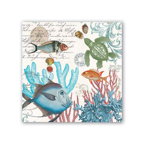 "Sea Life Luncheon Napkins|Serviettes de table ""Sea Life"""
