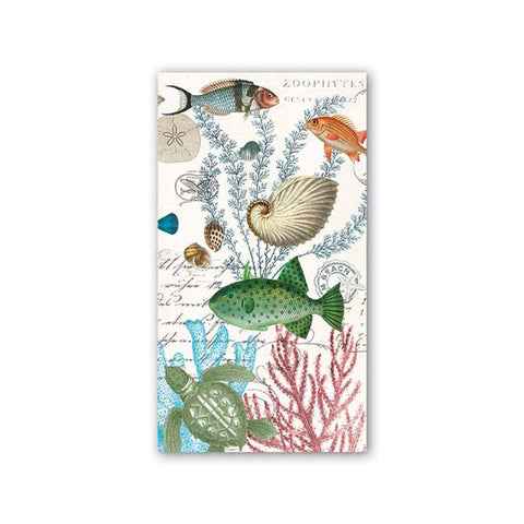 "Sea Life Hostess Napkins|Serviettes hôtesse ""Sea Life"""