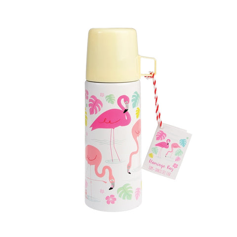 "Flask and Cup ""Flamingo Bay""